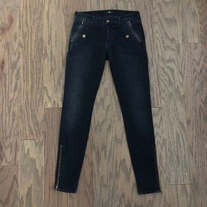 7 For All Mankind Zipper Ankle Pocket Skinny Jeans